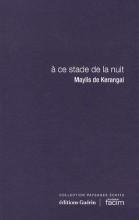 Maylis de Kerangal - a ce stade de la nuit - Guérin Fondation Facim
