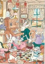 Madame le lapin blanc - illustration
