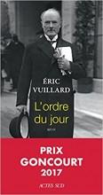 Eric VUILLARD - L'ordre du jour - Actes Sud