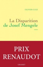 Olivier GUEZ - La disparition de Joseph Mengele - Grasset
